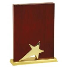 Rosewood Standing Star Plaque